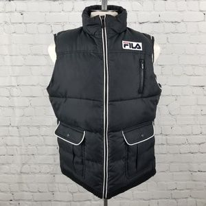 FILA   puffer mock neck sport vest